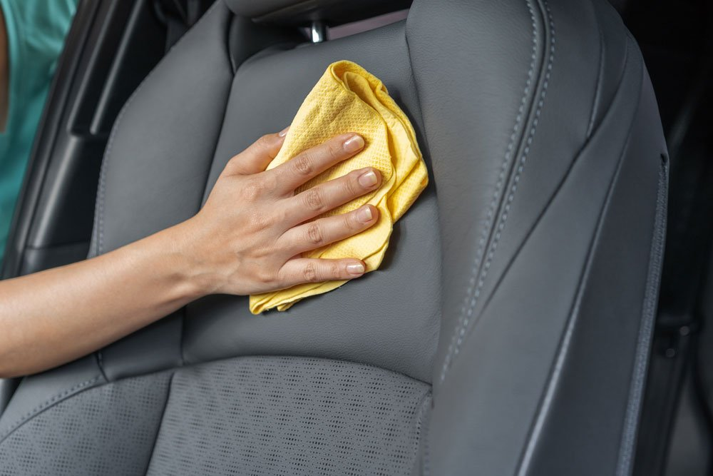 Cleaning car seats - leather