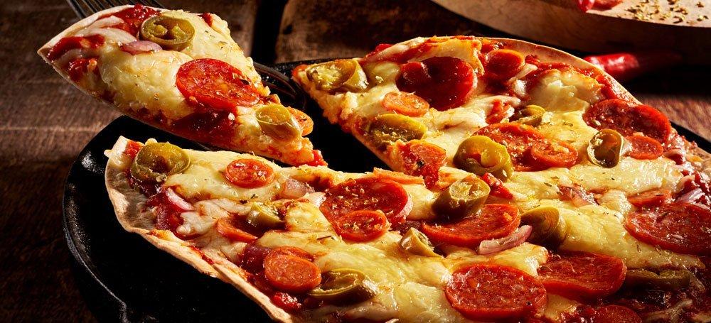 Blitz-Pizza aus Tortillawrap
