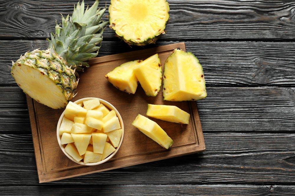 blutdrucksenkende Lebensmittel - Ananas