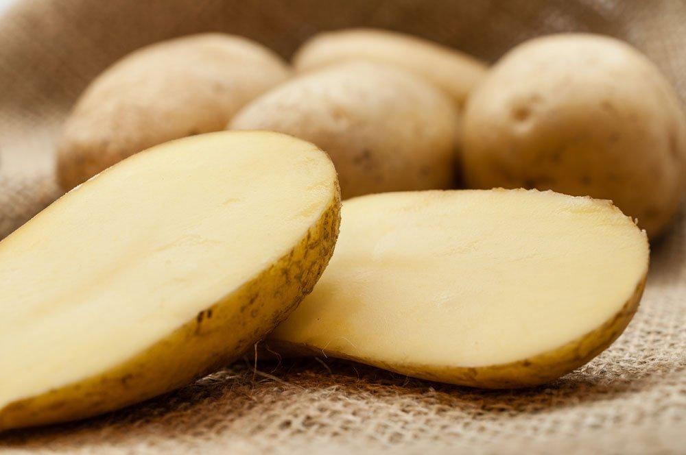 Edelstahl reinigen - Kartoffel