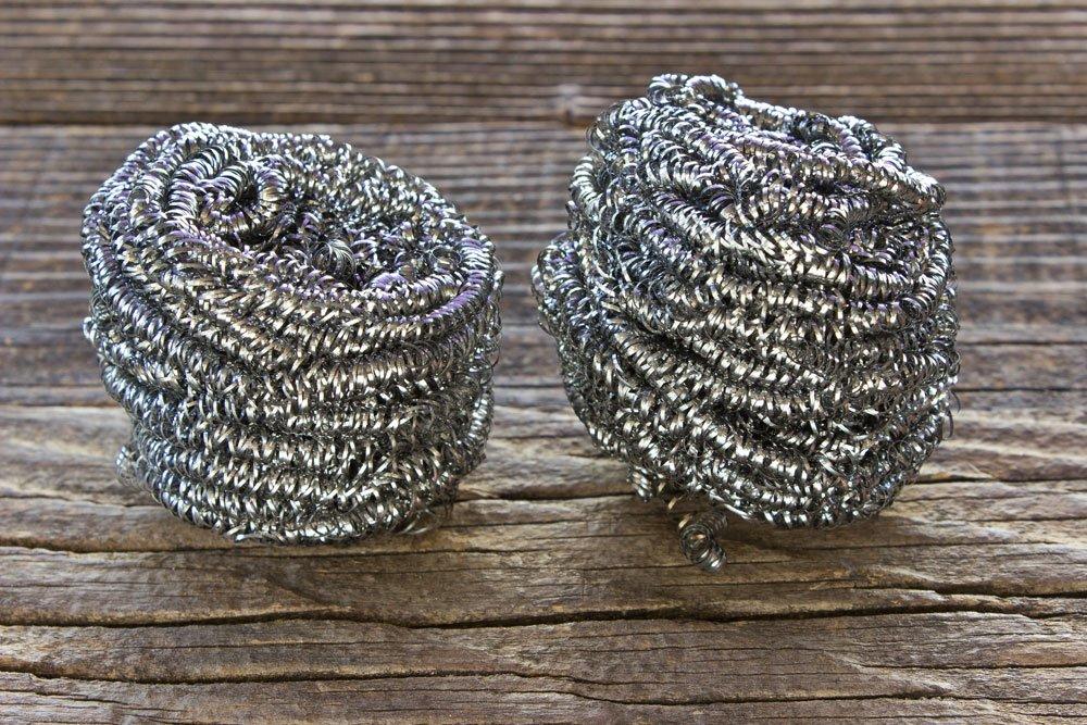 Edelstahl reinigen - Stahlwolle