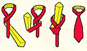 Krawatte: Der einfache Knoten 1