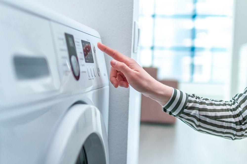 Federbett in die Waschmaschine