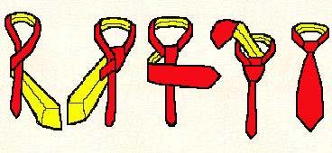 Krawatte: Der halbe Englische Knoten 1