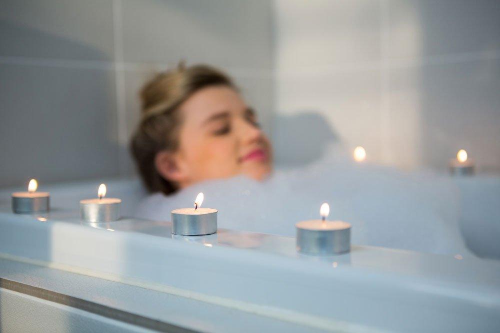 Kerzen Badewanne