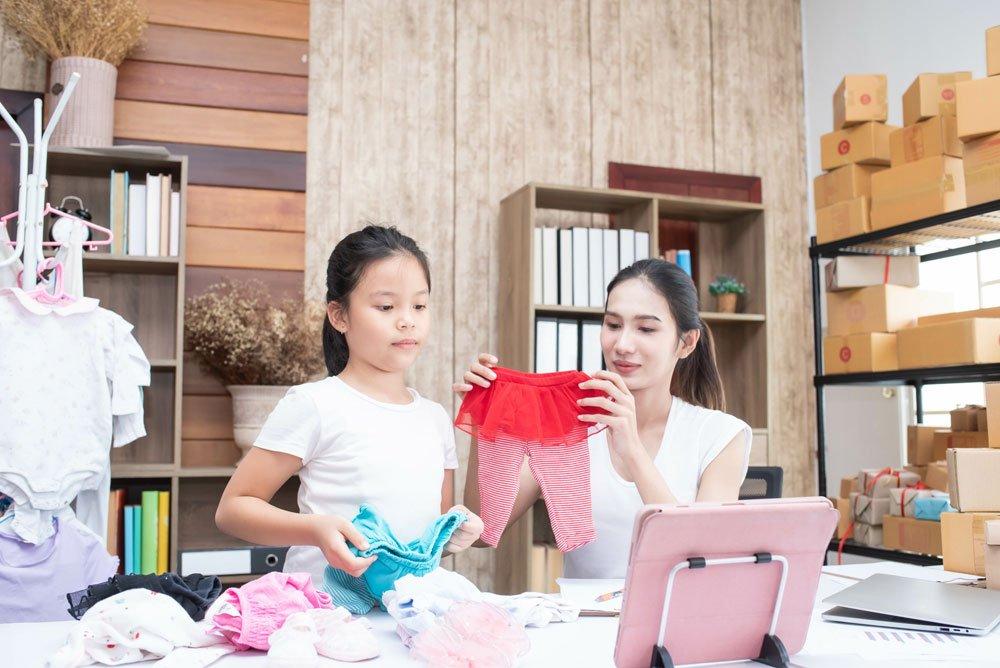 Kindersachen auf Online-Plattformen