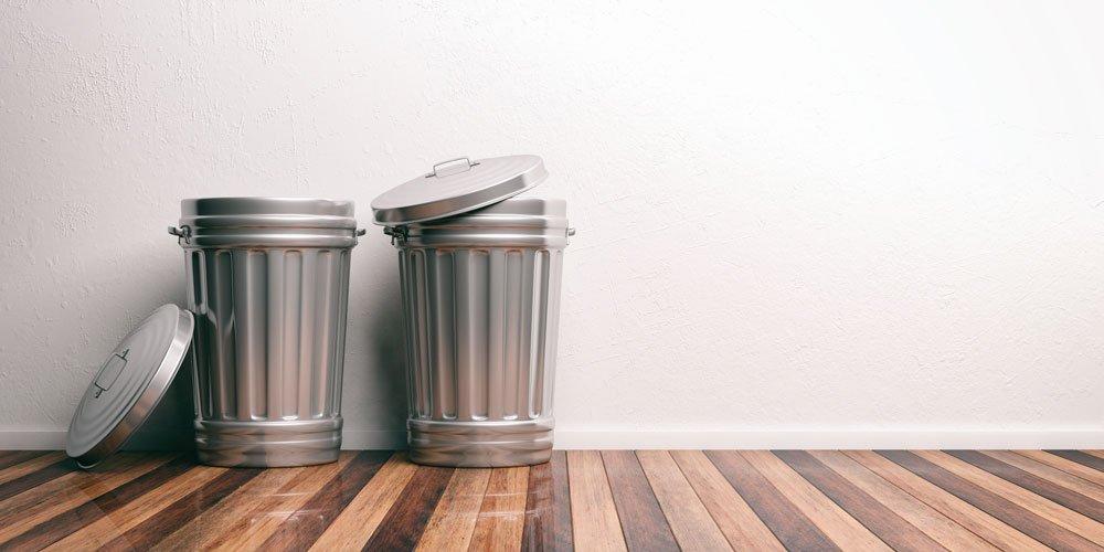 Mülleimer aus Metall