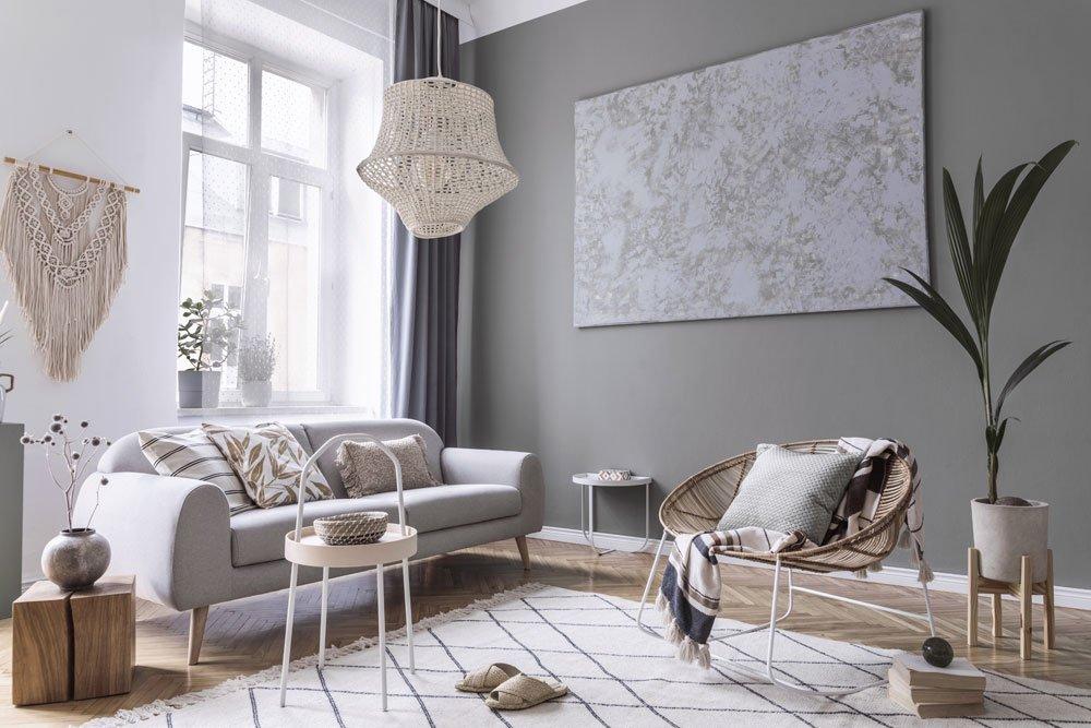 Niedrige Räume Wandfarbe