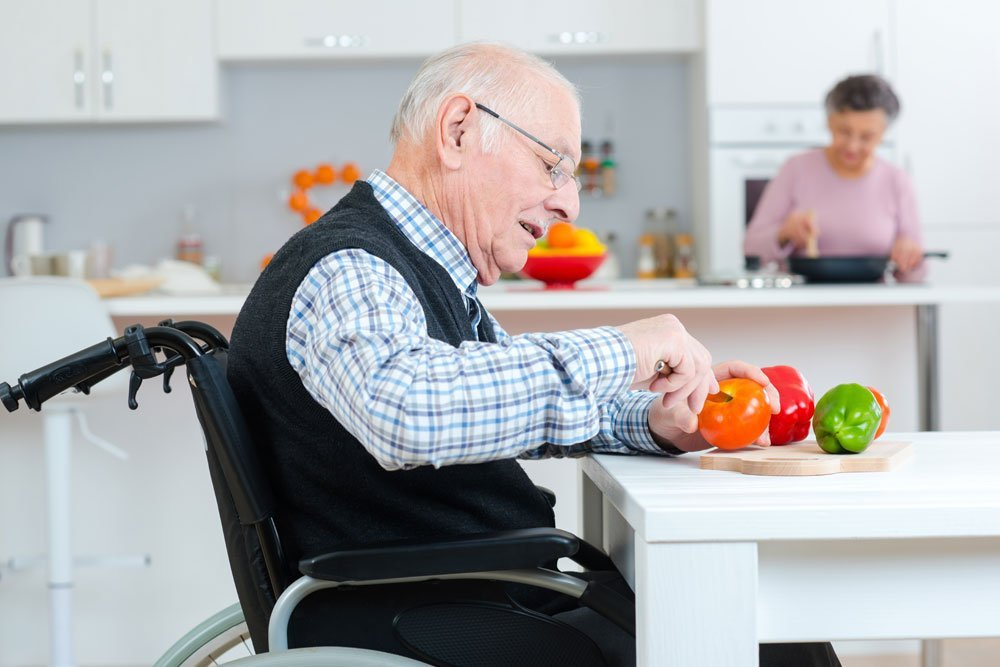 Seniorengerechter Arbeitsplatz