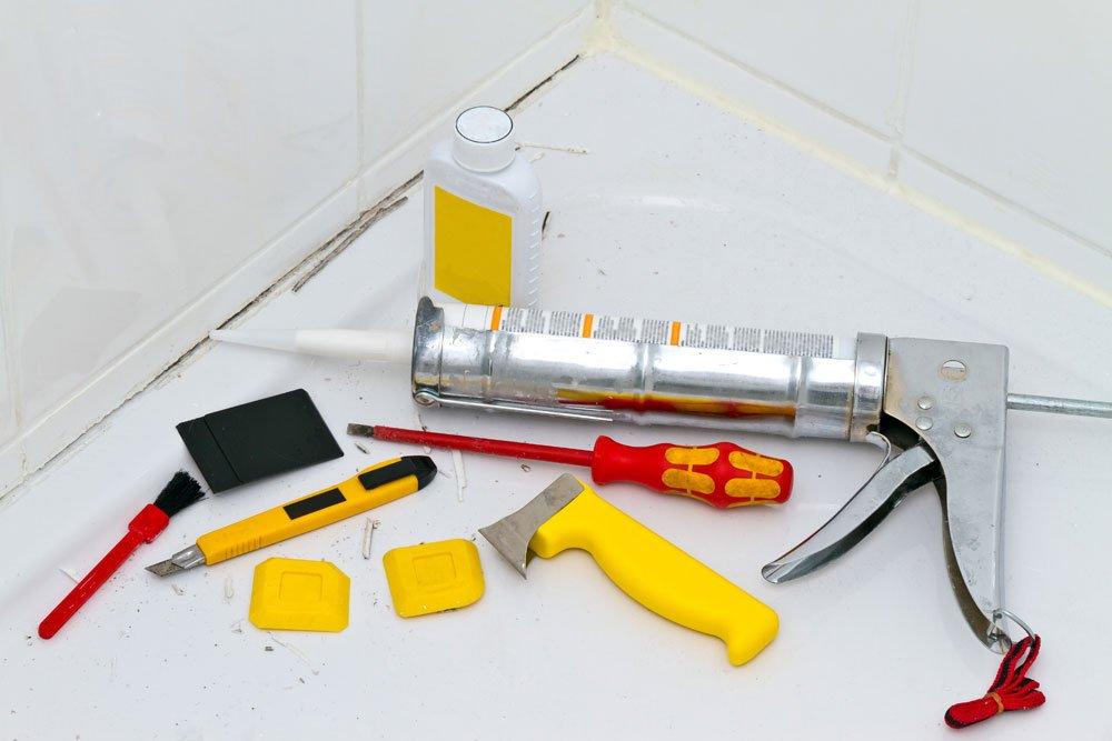 Silikonfuge ziehen Werkzeug