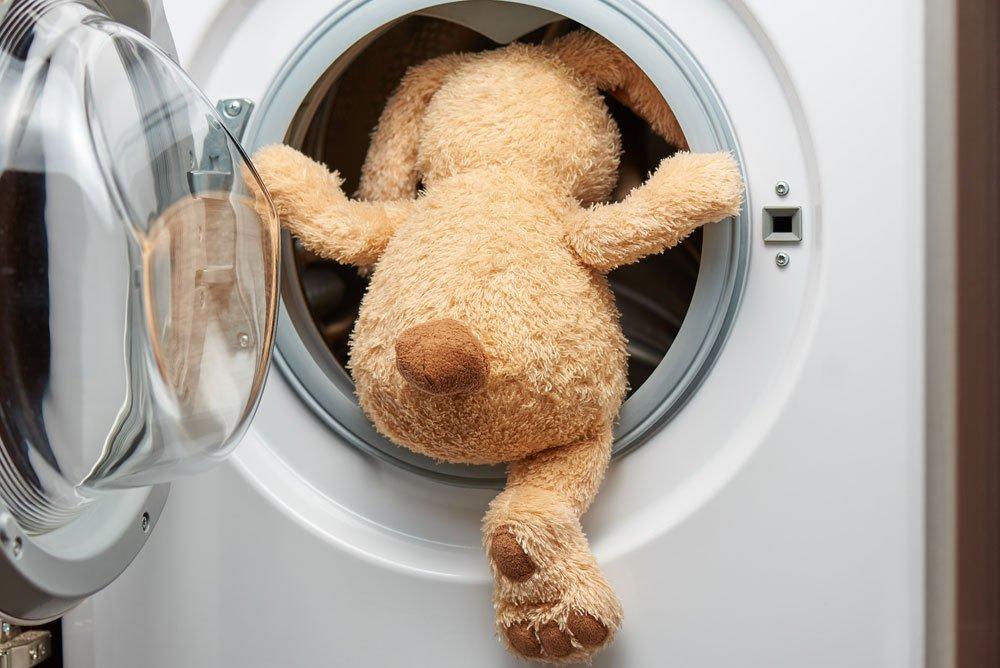 Spielzeug in der Waschmaschine reinigen