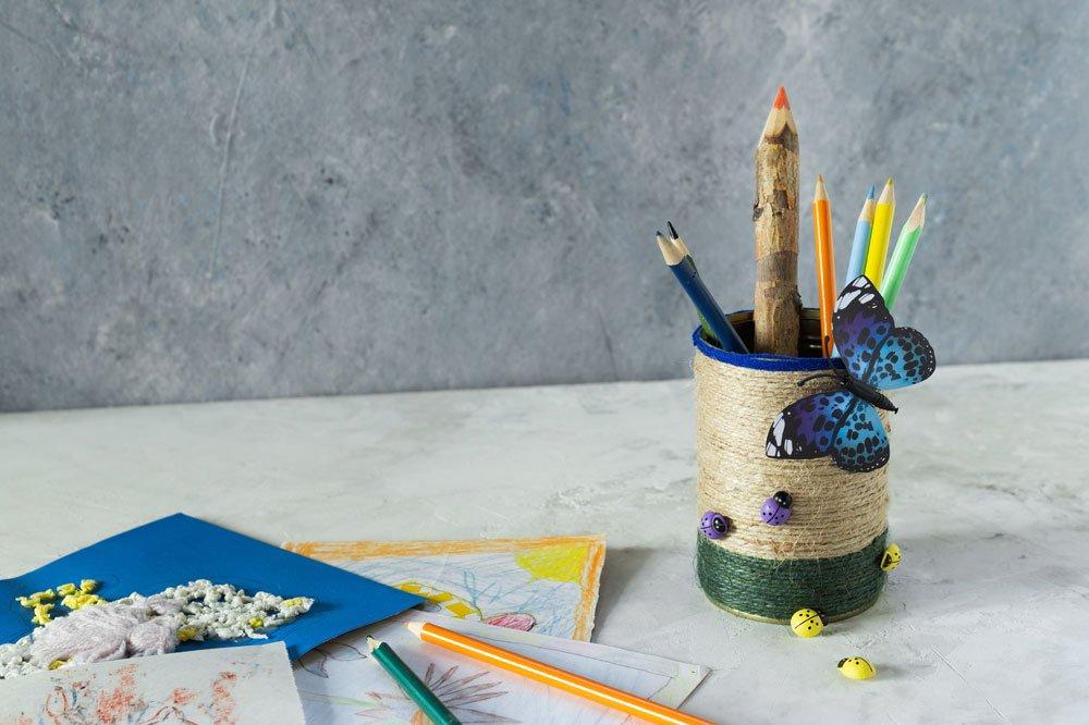 Stifthalter aus Konservendose