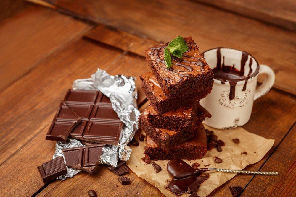 Vegane Brownies mit dunkler Schokolade