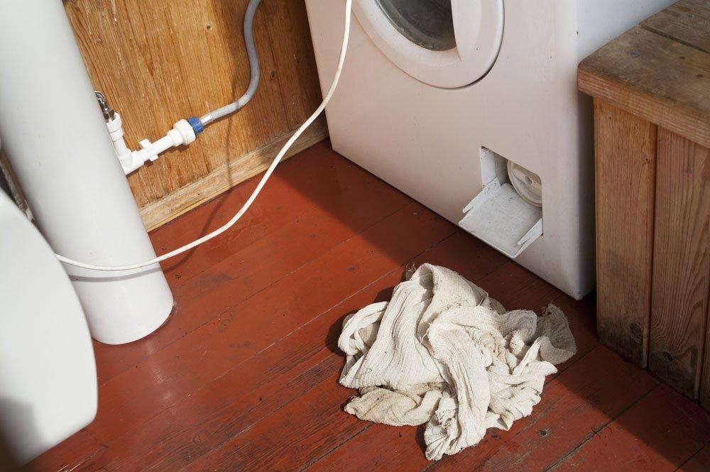Waschmaschine Restwasser