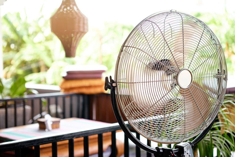 Zimmer kühlen durch Ventilator